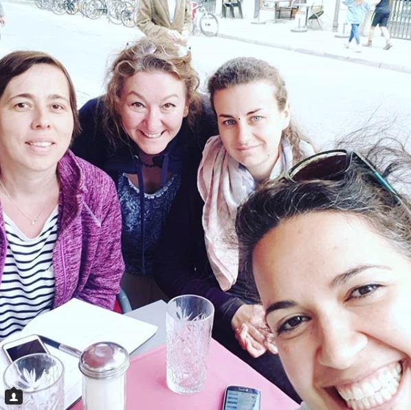 Danijela, Christine, Anja und Günes - Projektbesprechung #schuleneudenken