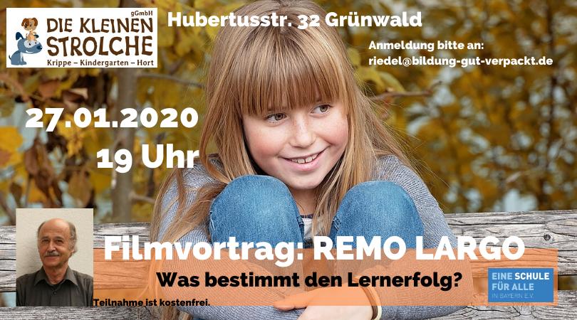 Was bestimmt den Lernerfolg - Einladungkarte - Remo Largo Filmvortrag