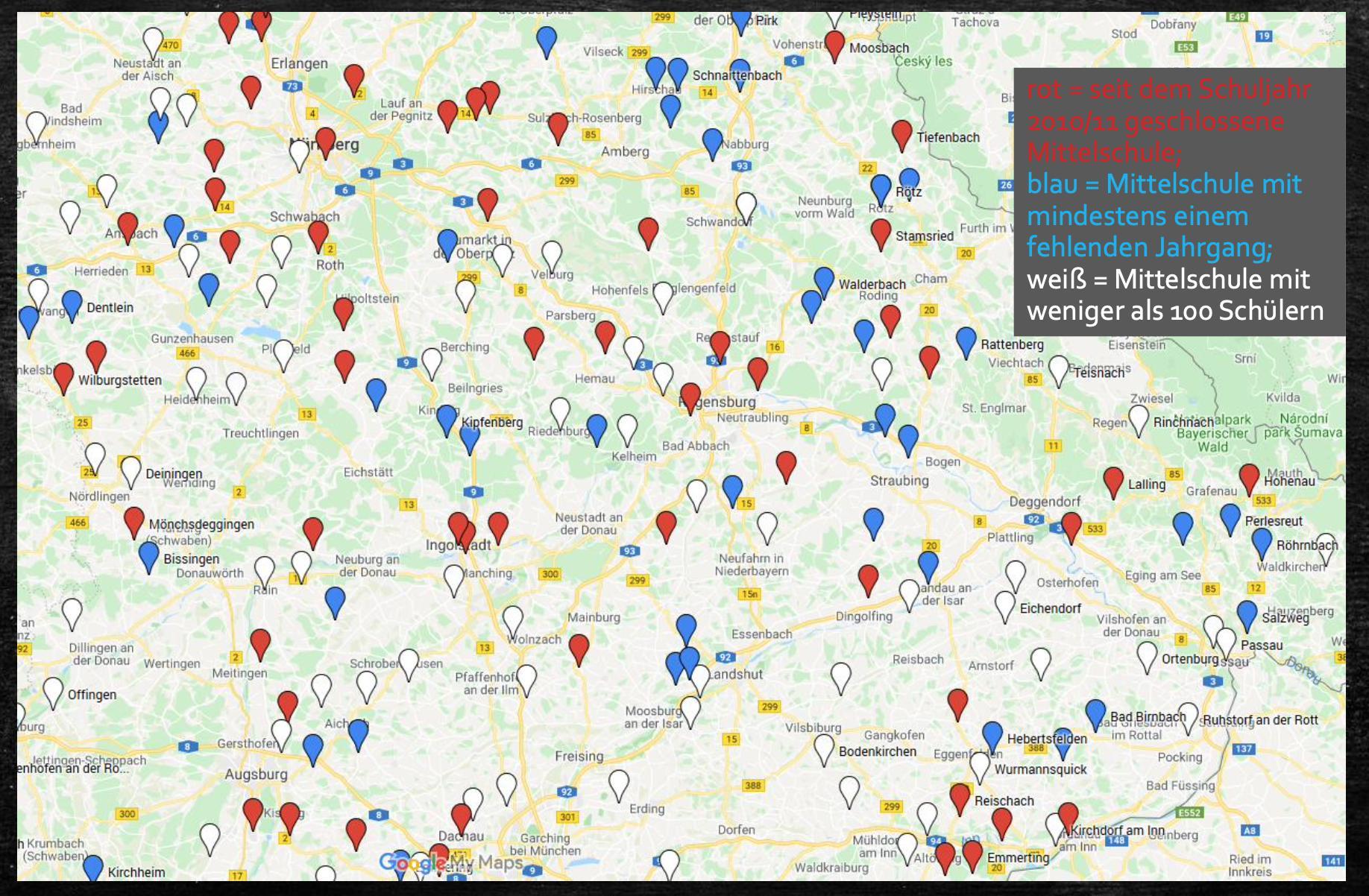 Mittelschulen sterben aus in Bayern