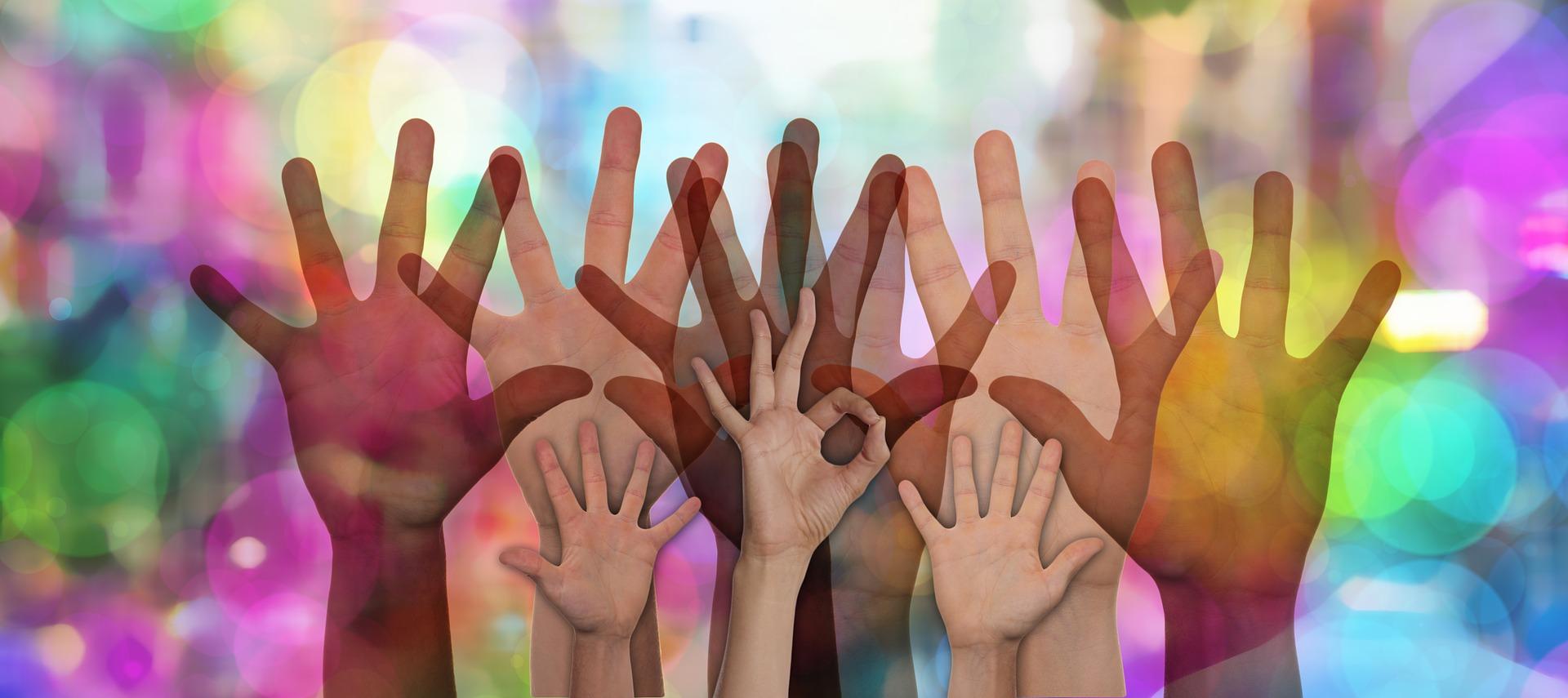 Das Märchen von der Inklusion - Bild mit Händen